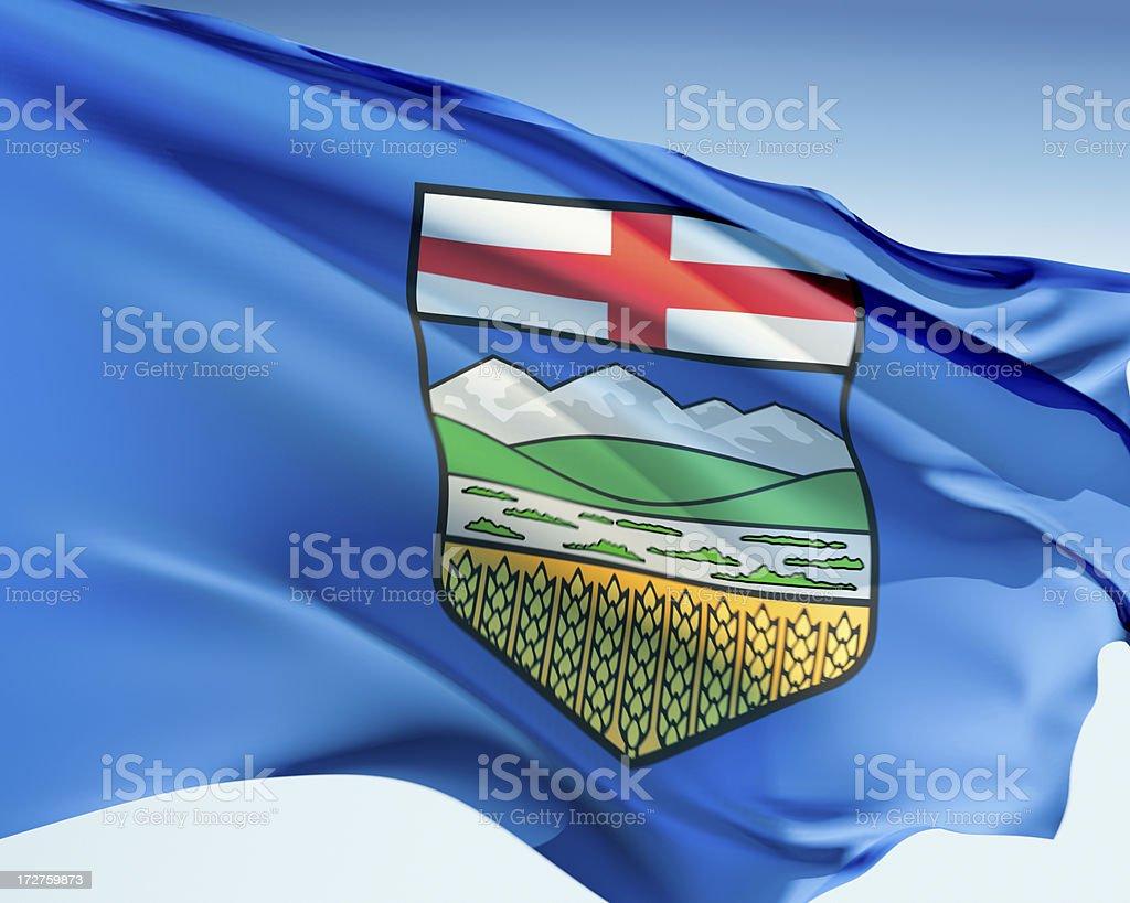 Flag of Alberta royalty-free stock photo