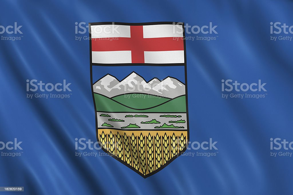 flag of alberta stock photo