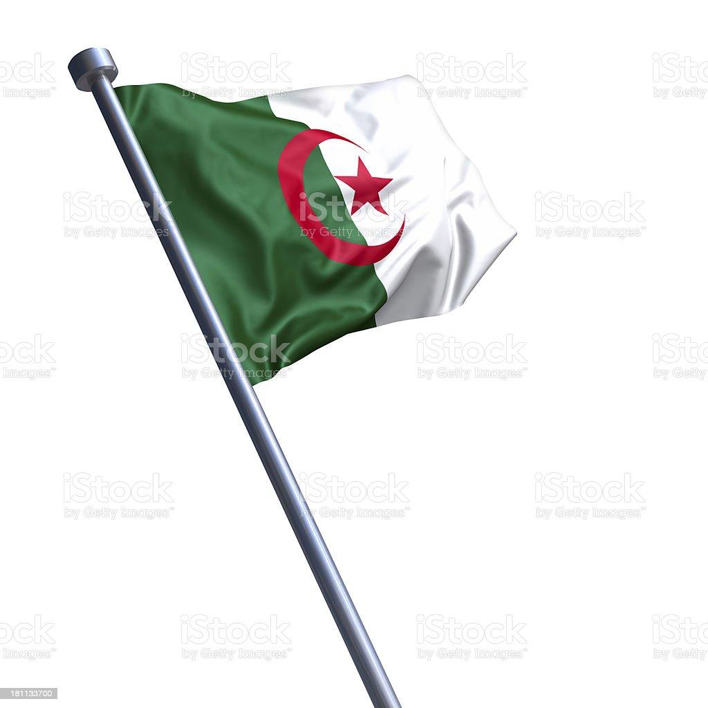 Flag of Algeria isolated on white stock photo
