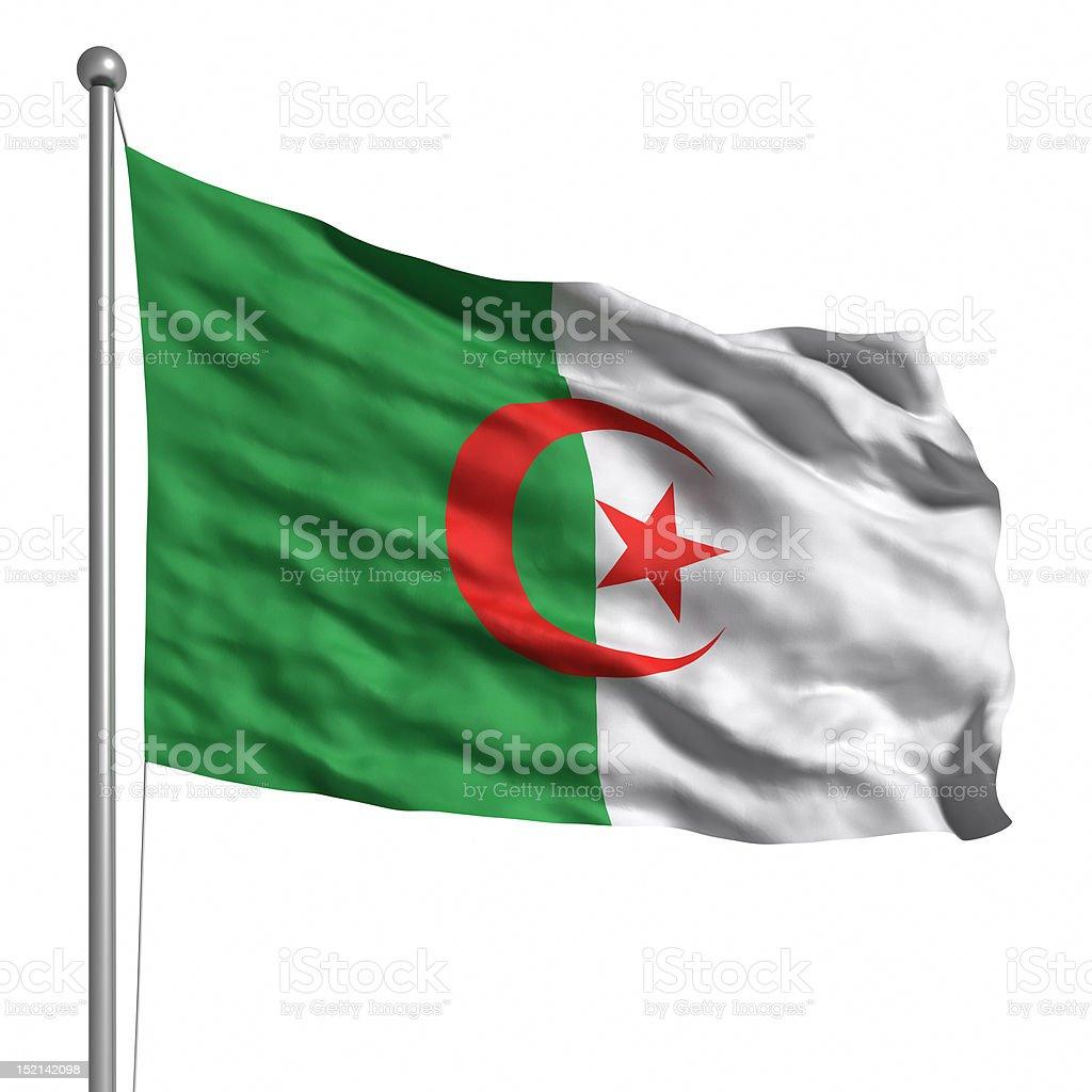 Flag of Algeria (Isolated) stock photo