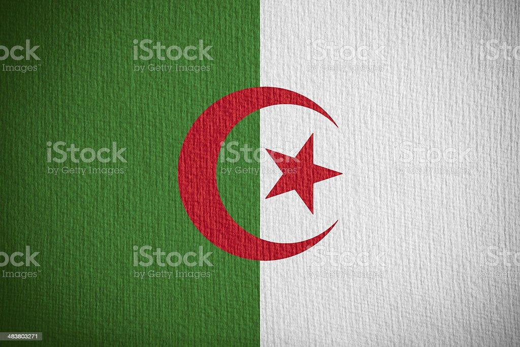 flag of Algeria stock photo