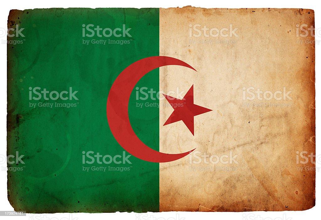 Flag of Algeria XXXL stock photo