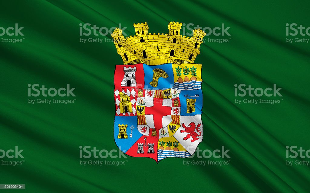 Flag of Almeria - Province of southern Spain stock photo