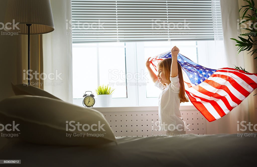 flag of America stock photo