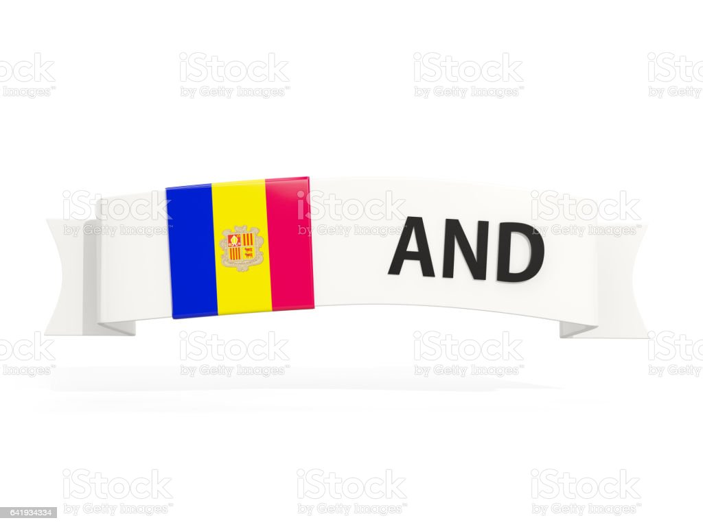 Flag of andorra on banner stock photo