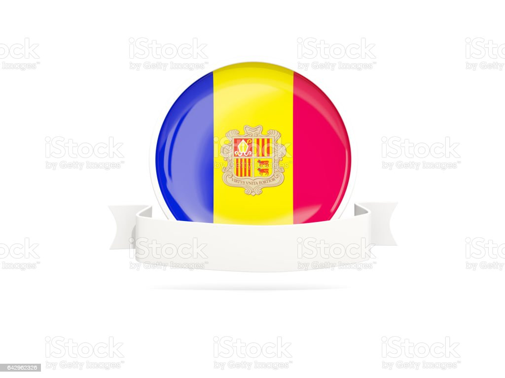 Flag of andorra with banner stock photo