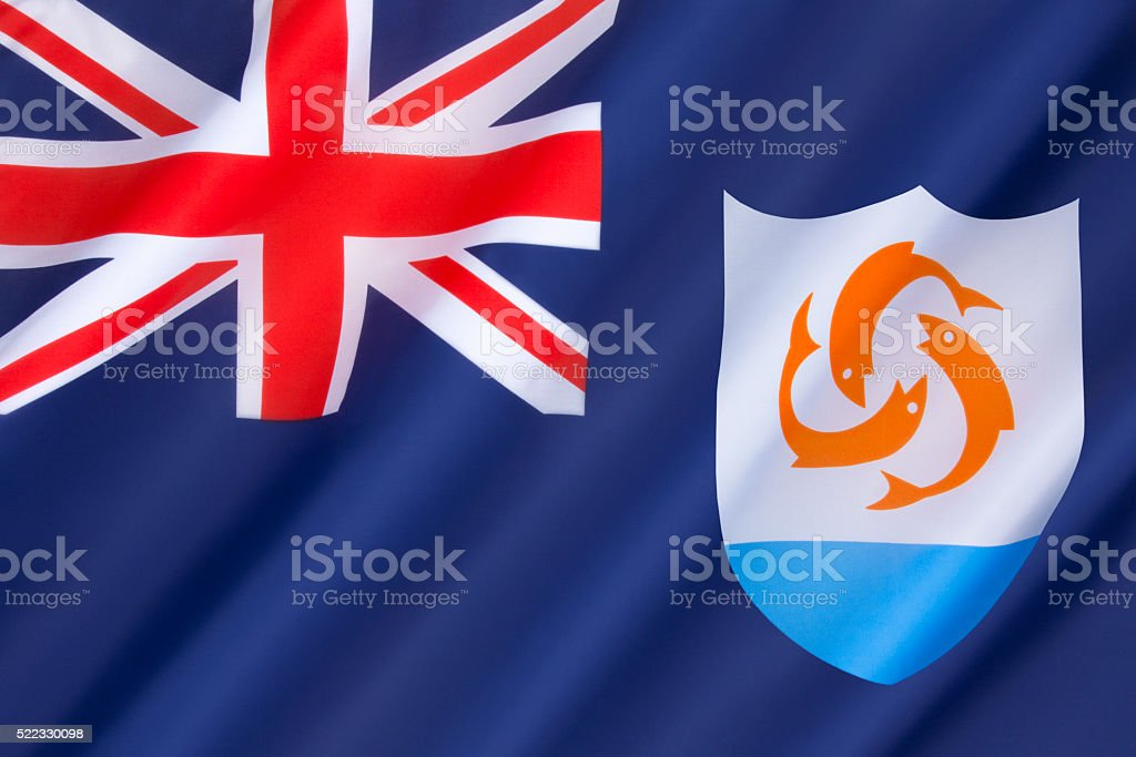 Flag of Anguilla stock photo