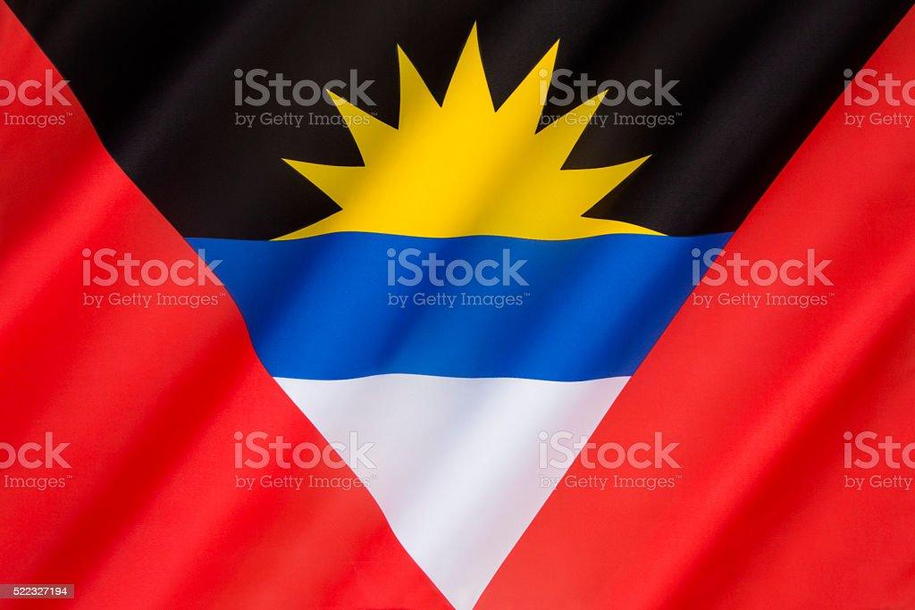 Flag of Antigua and Barbuda - Caribbean stock photo