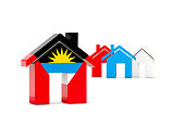 Flag of antigua and barbuda, home icon