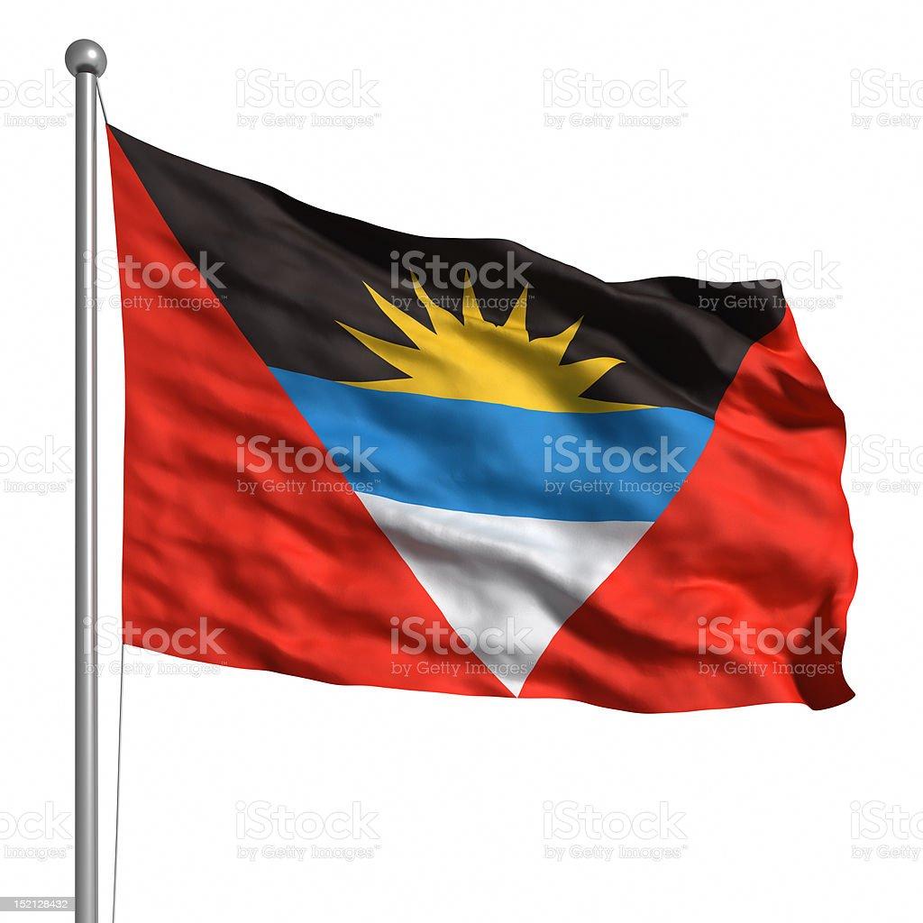 Flag of Antigua and Barbuda (Isolated) stock photo
