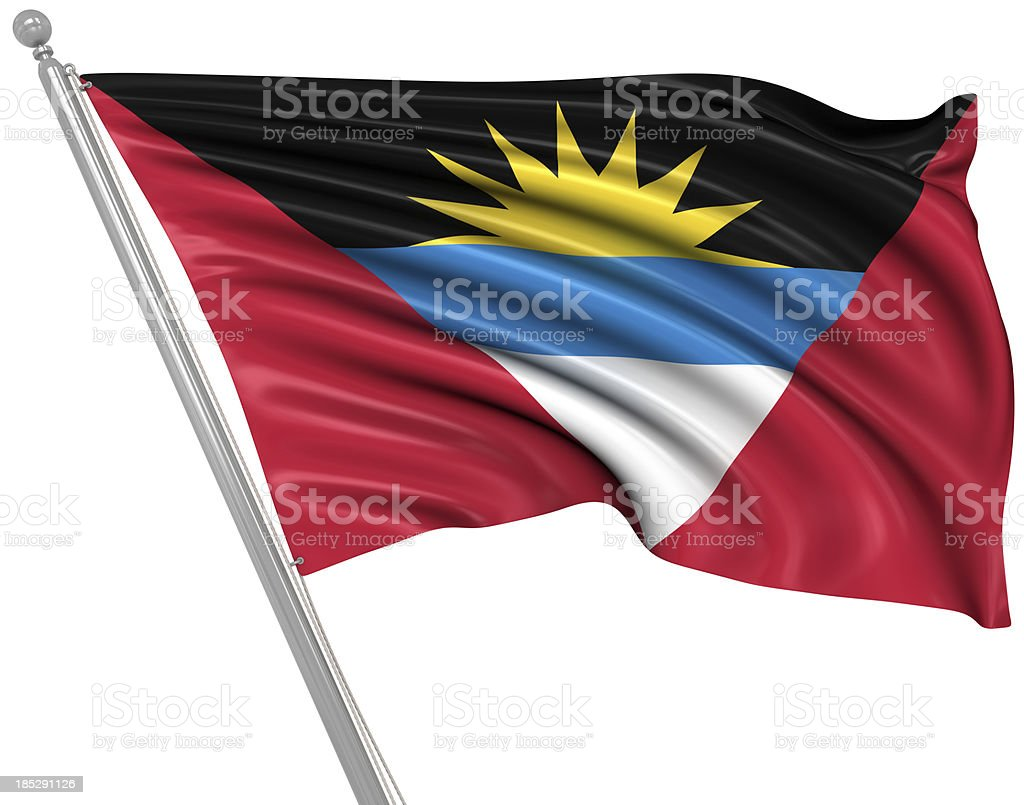 Flag of Antigua & Barbuda stock photo