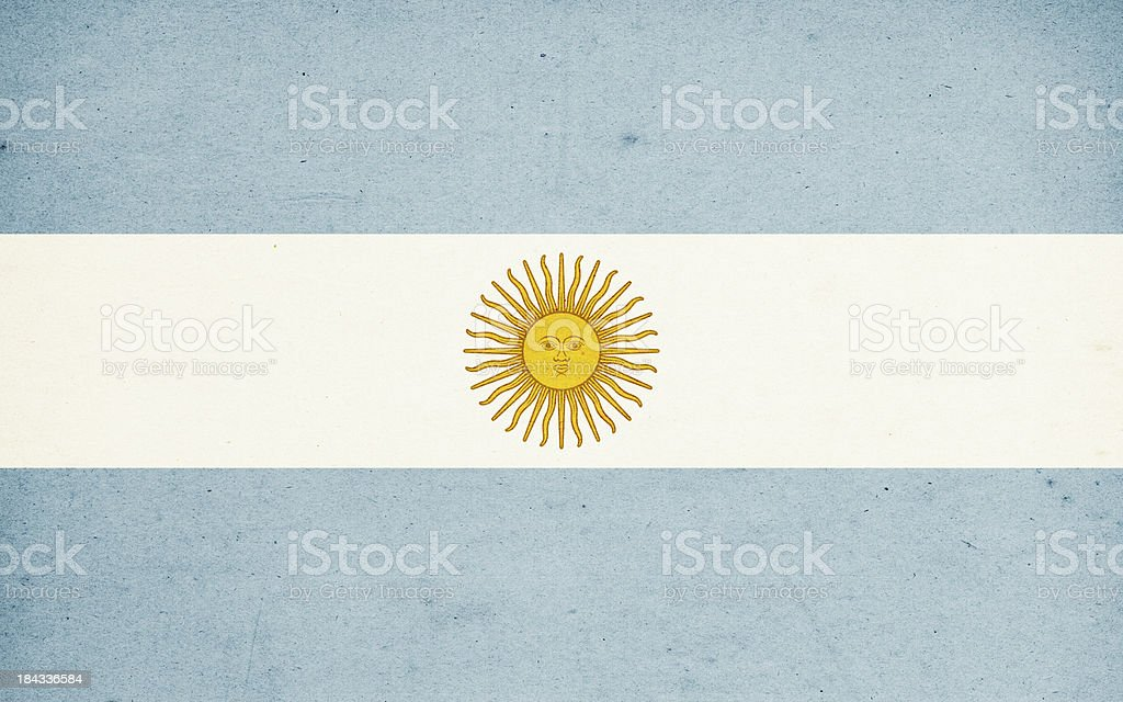Flag of Argentina Close-Up (High Resolution Image) royalty-free stock photo