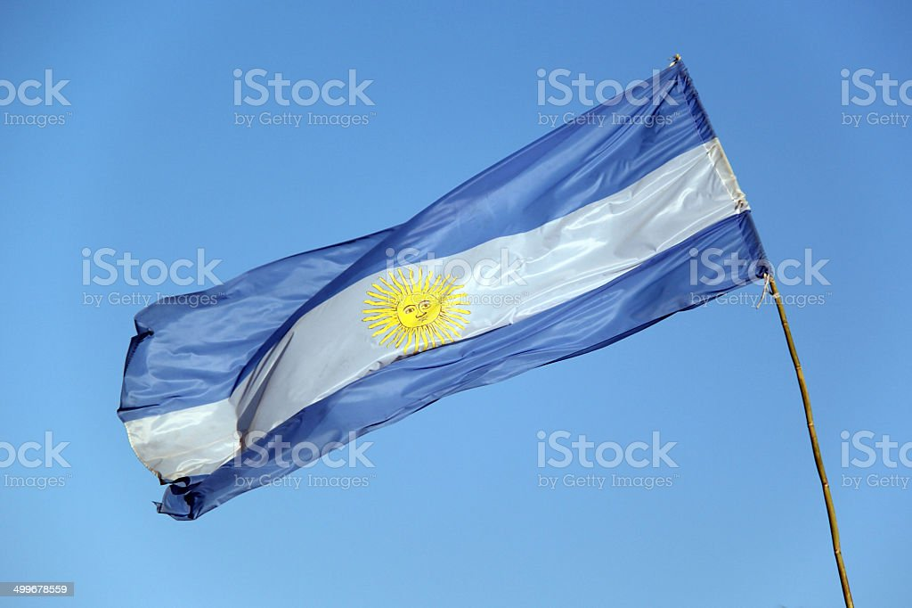 Bandeira da Argentina, Praia de Copacabana stock photo