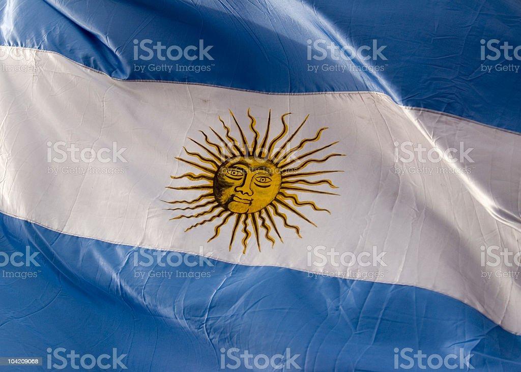 Flag of Argentina royalty-free stock photo