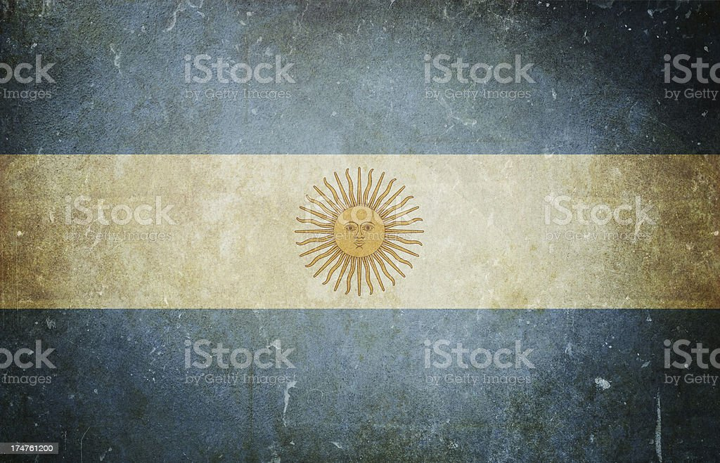 Flag of Argentina royalty-free stock photo