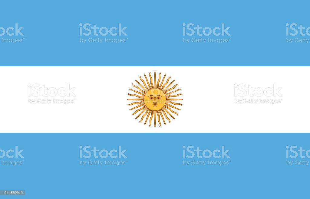 Flag of Argentina stock photo