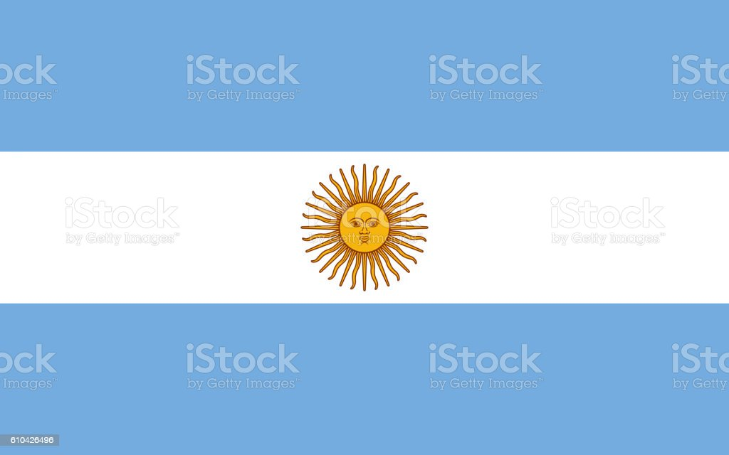 Flag of Argentina vector art illustration