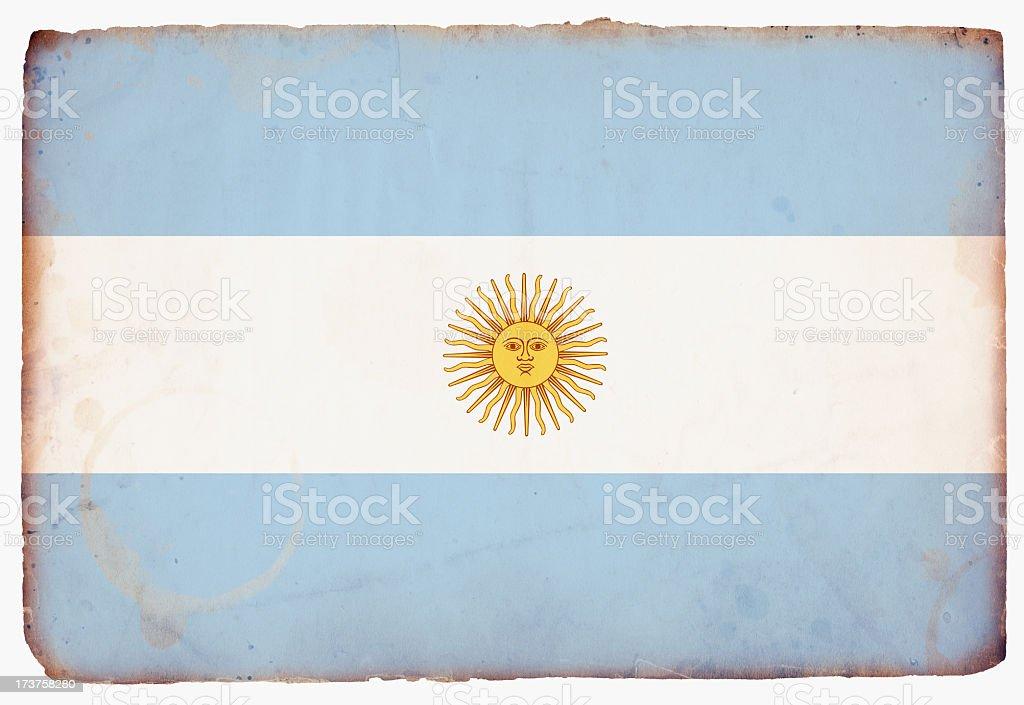 Flag of Argentina XXXL royalty-free stock photo