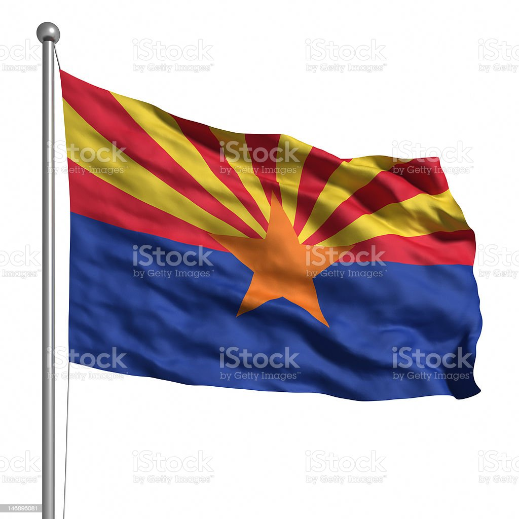 Flag of Arizona (isolated) royalty-free stock photo