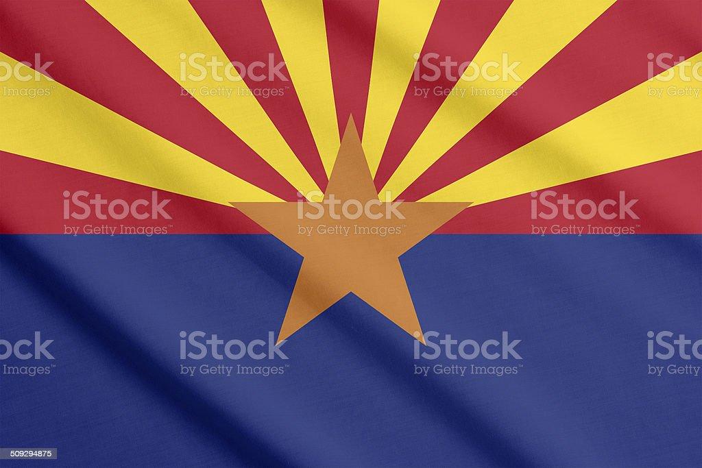 Flag of Arizona stock photo