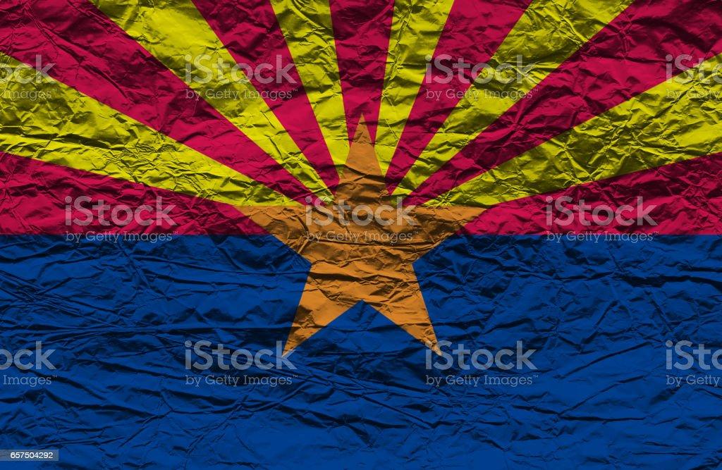 Flag of Arizona State stock photo