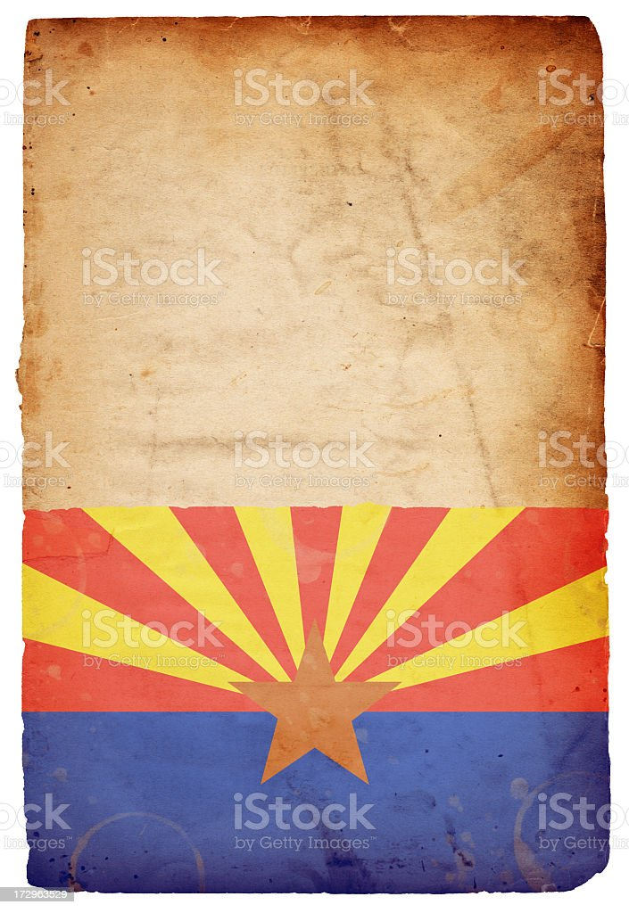 Flag of Arizona XXXL royalty-free stock photo