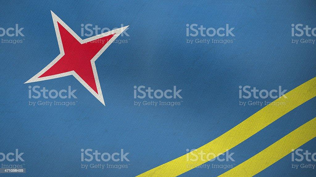 3D flag of Aruba royalty-free stock photo