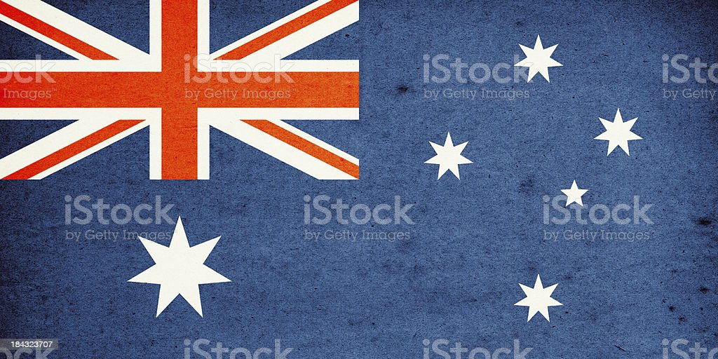 Flag of Australia Close-Up (High Resolution Image) stock photo