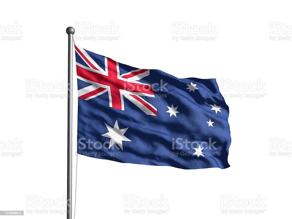Flag of Australia (OLD) Newer version available. stock photo