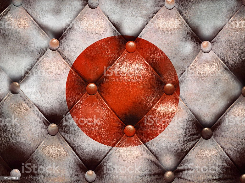 Flag of Australia on capitone checkered coach leather stock photo