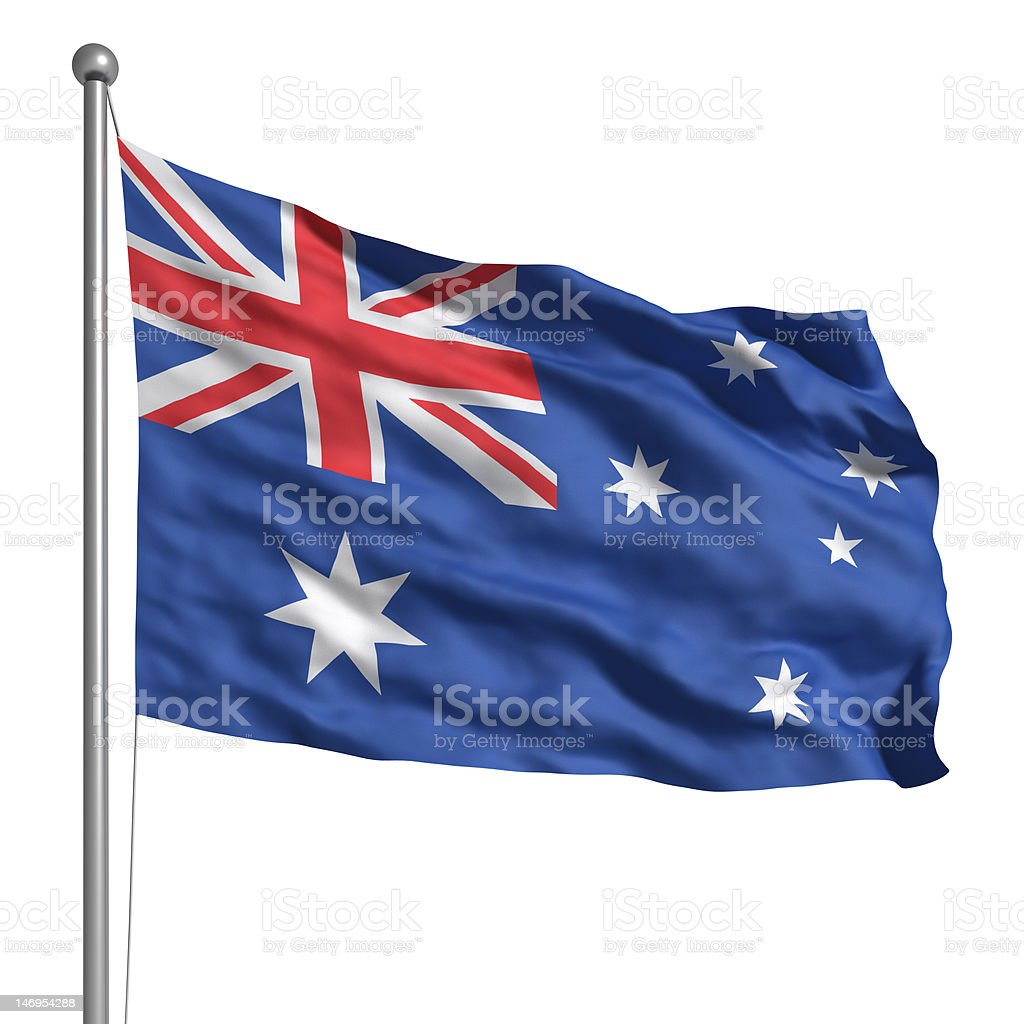 Flag of Australia (Isolated) royalty-free stock photo