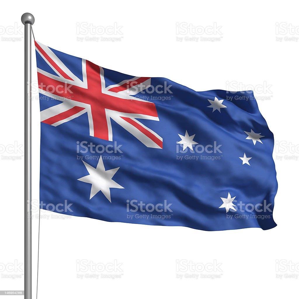 Flag of Australia (Isolated) stock photo