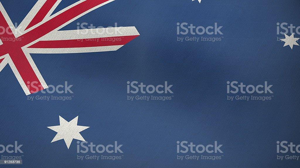 3D flag of Australia royalty-free stock photo