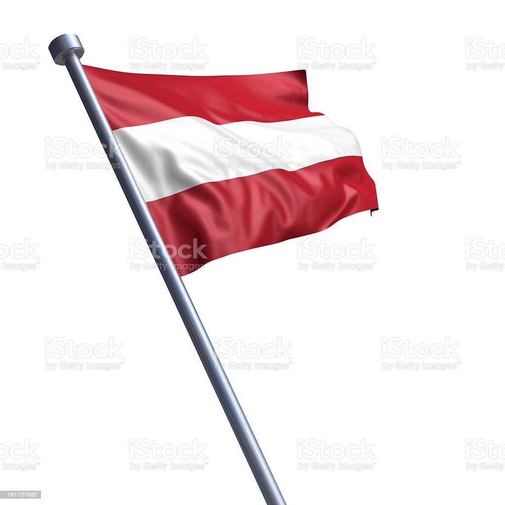 Flag of Austria isolated on white stock photo