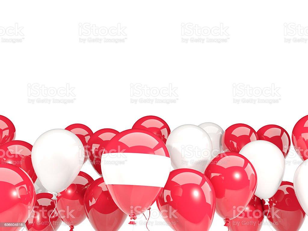 Flag of austria with balloons stock photo