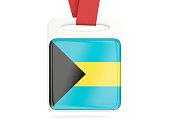 Flag of bahamas, square card
