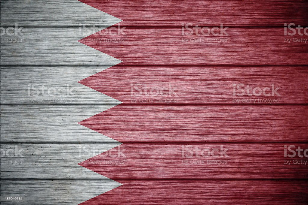 flag of bahrain Background texture wood royalty-free stock photo