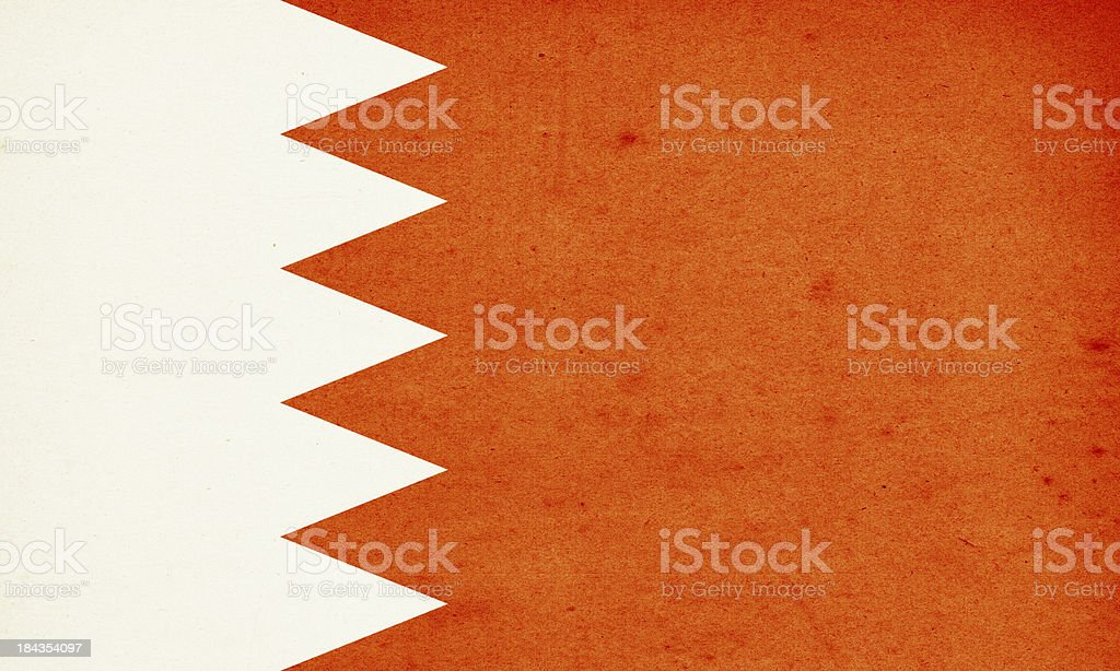 Flag of Bahrain Close-Up (High Resolution Image) stock photo