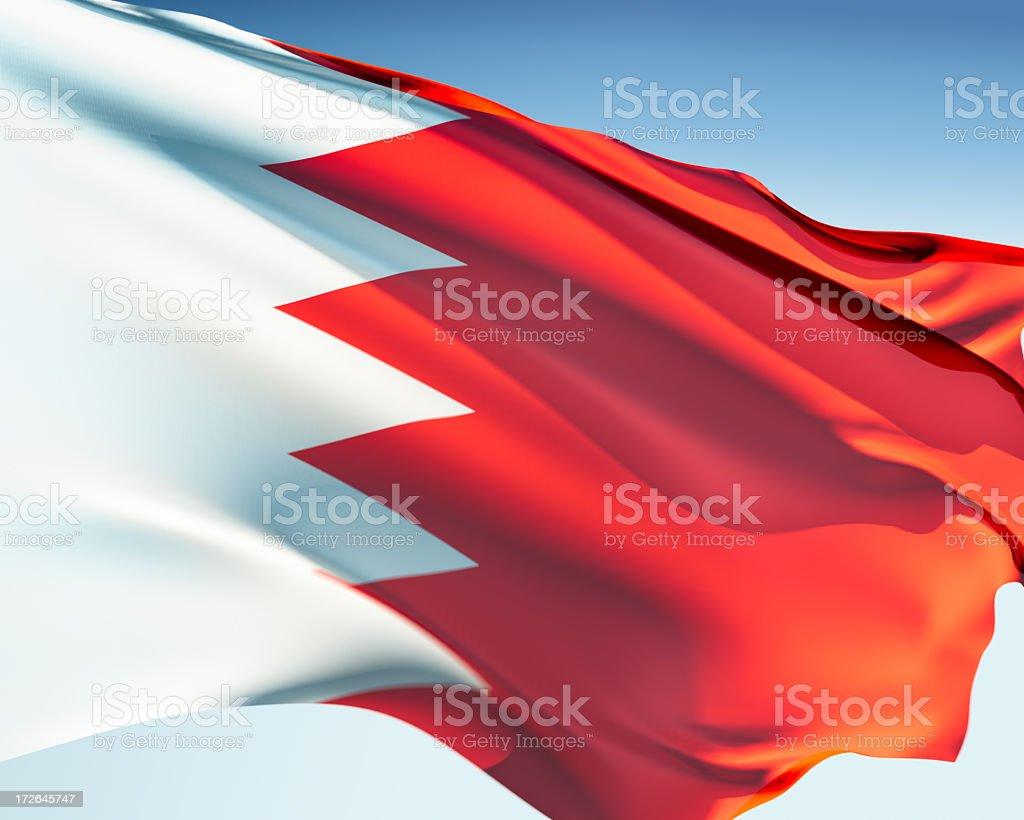 Flag of Bahrain royalty-free stock photo