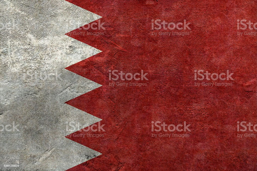 Flag of Bahrain stock photo