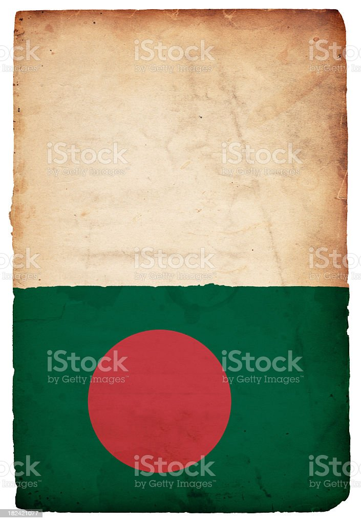Flag of Bangladesh - XXXL stock photo