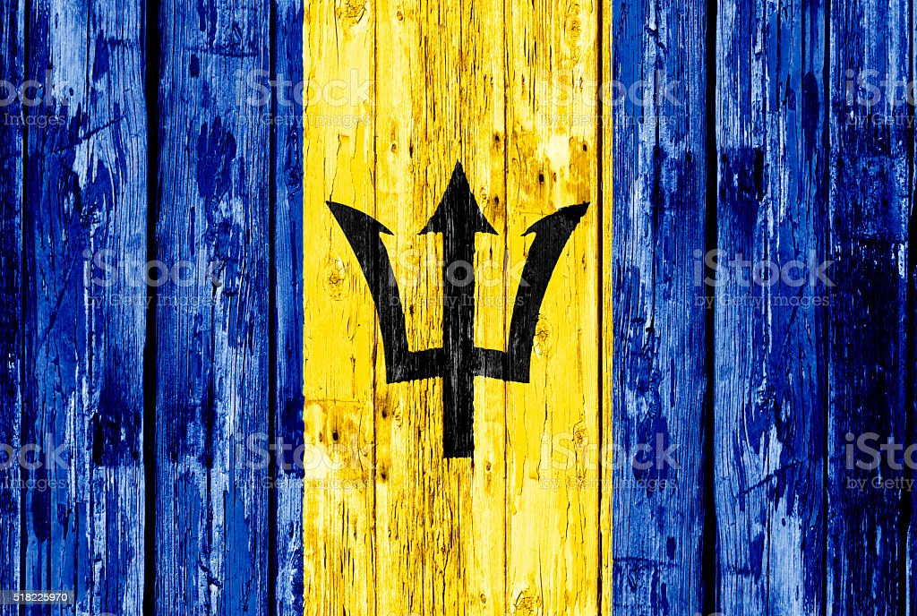 Flag of Barbados stock photo