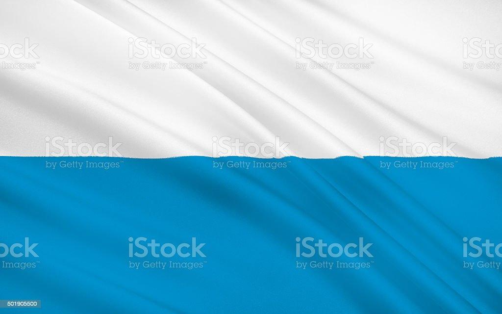 Flag of Bavaria stock photo