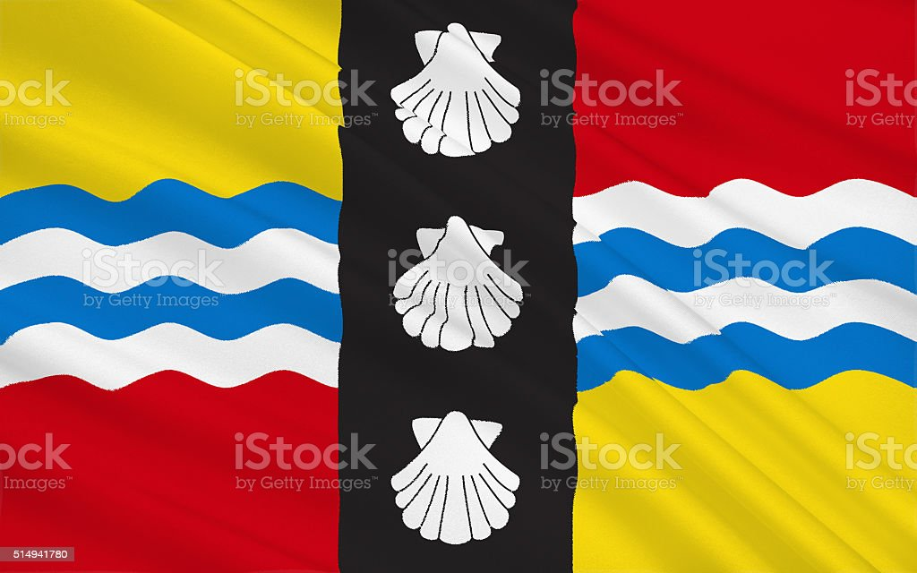 Flag of Bedfordshire county, England stock photo