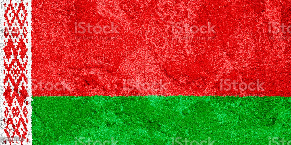 Flag of Belarus stock photo