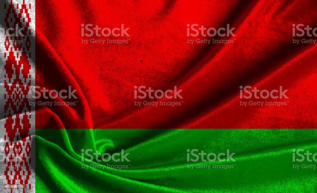 Flag of Belarus stock photo