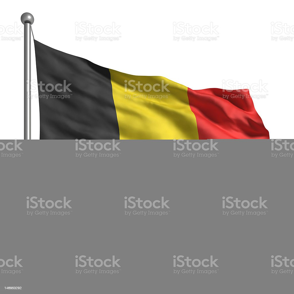 Flag of Belgium (Isolated) stock photo