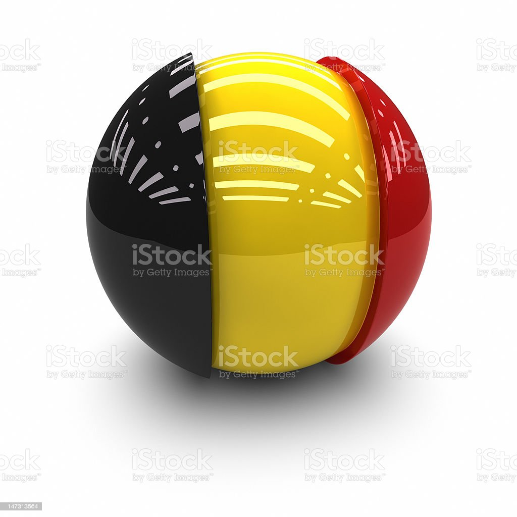 3D  - Flag of Belgium royalty-free stock photo