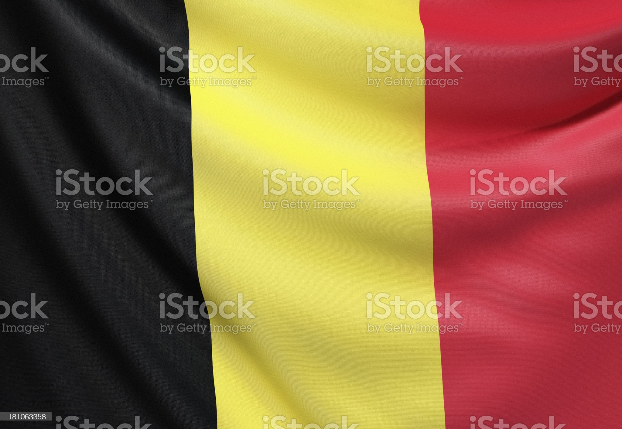 Flag of Belgium royalty-free stock photo