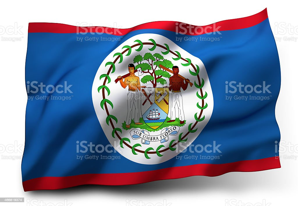 Flag of Belize stock photo